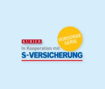 Logo der s Versicherungs Kooperation, Vorsorge Serie, mit dem Kurier.